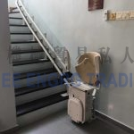 Stairlift in off position