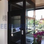Black colour enclosed platform lift