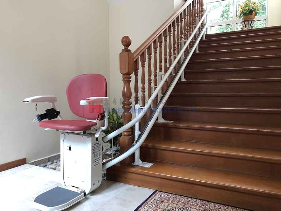 red straight stairlift